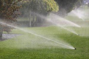lawn sprinkler blowout